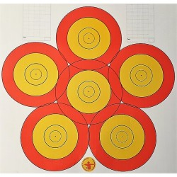 DANAGE Archery Practice Target Face 40cm Flower 1*