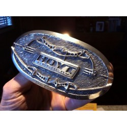 HOYT - SOLID SILVER BELT BUCKLE